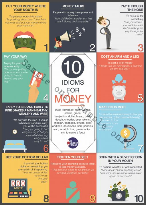 money idiom poster