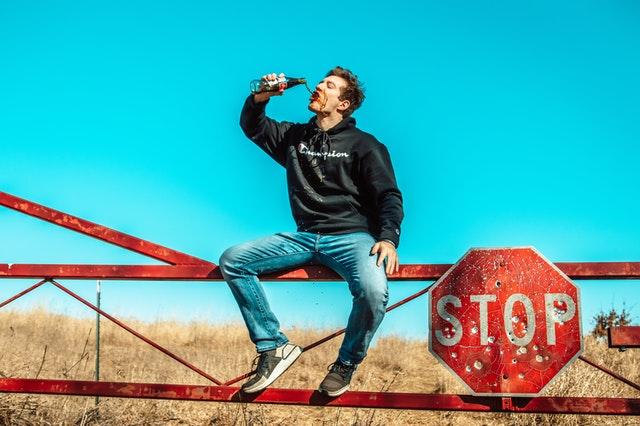 drinking coke in the wind